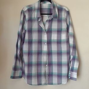 Tops - Plaid Button Down Shirt